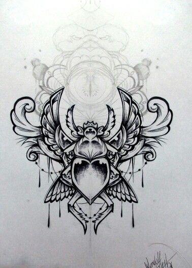 Scarab tattoo tattoo flash pinterest for Scarab tattoo designs