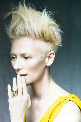 Tilda Swinton. Perfect picture. Beautiful photo.