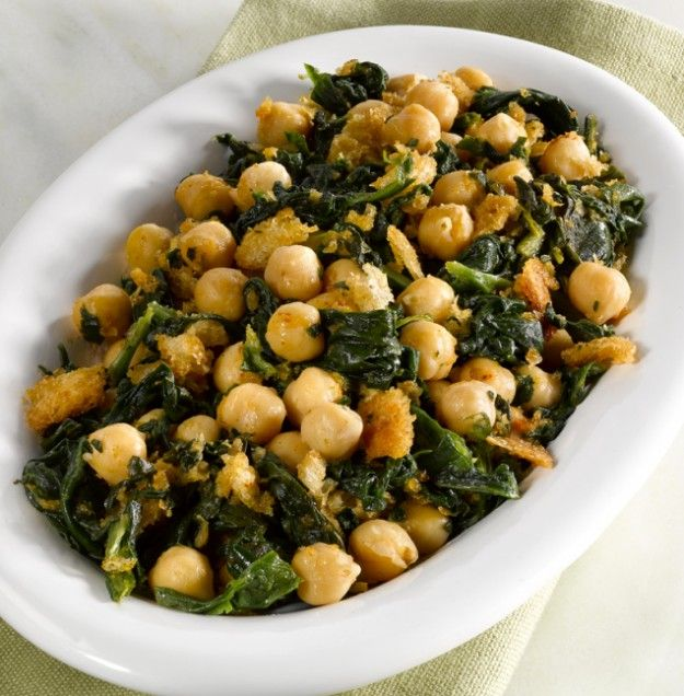 Chickpeas with Spinach- i am going to use arrowhead mills puffed rice ...
