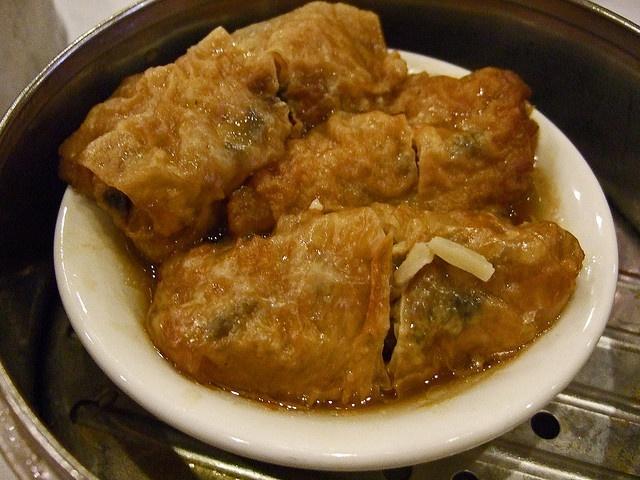 stuffed bean curd/ tofu skin   gluttony   Pinterest