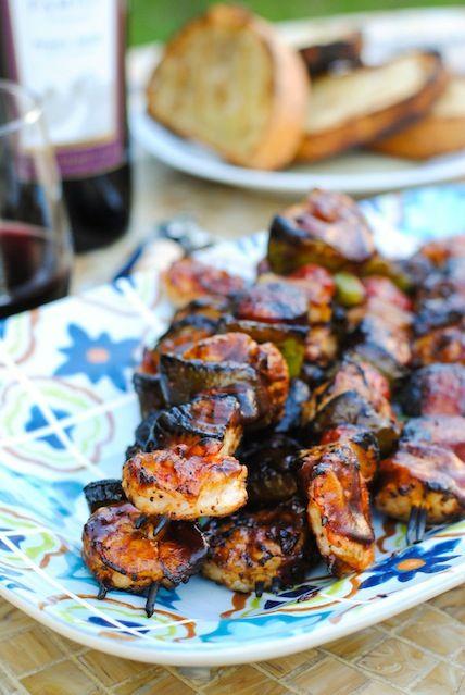 Jambalaya Kabobs - Cajun-spiced chicken, shrimp, sausage and veggies ...
