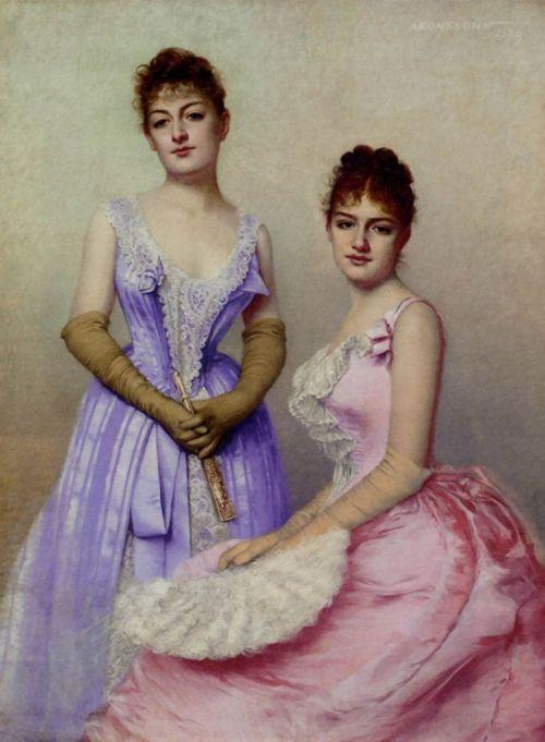 The Debutantes by Marta Aronssohn-Danzig, 1889 #victorian #art #painting