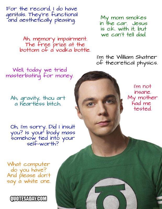 Oh, Sheldon Cooper.