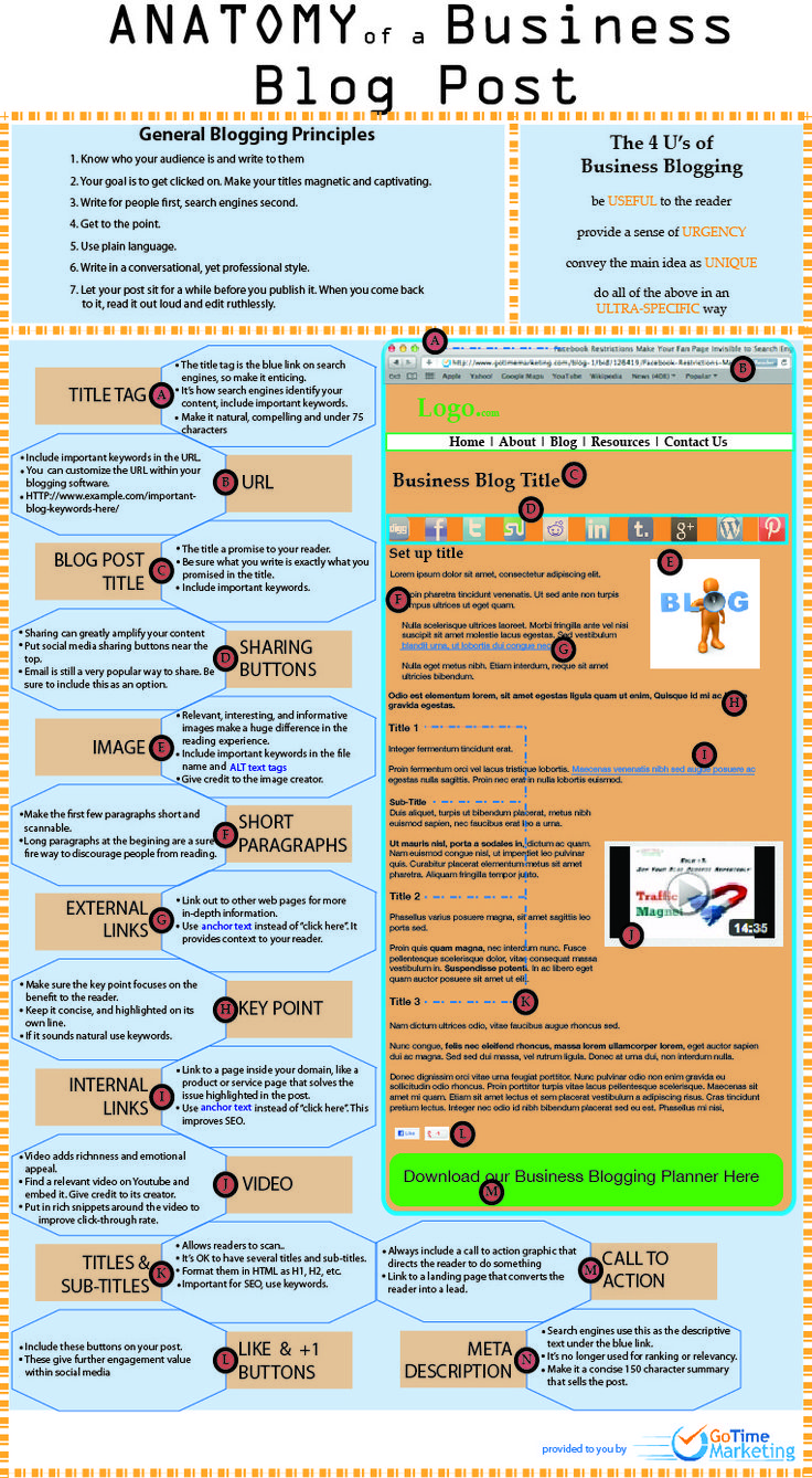 Anatomy Of A Business Blog Post - Infographic
