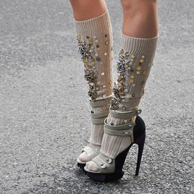 sequined socks