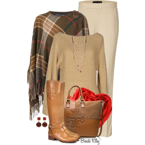 """Tory Burch Bag & Boots"" by brendariley-1 on Polyvore"