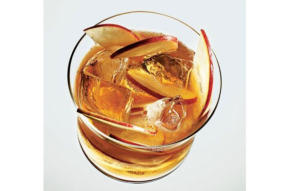 ... for holiday gatherings – Gold-Leaf Punch | apple brandy, champagne