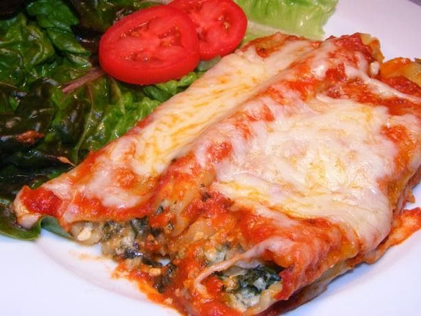 Spinach & Cheese Manicotti | Burnin' Down the house | Pinterest