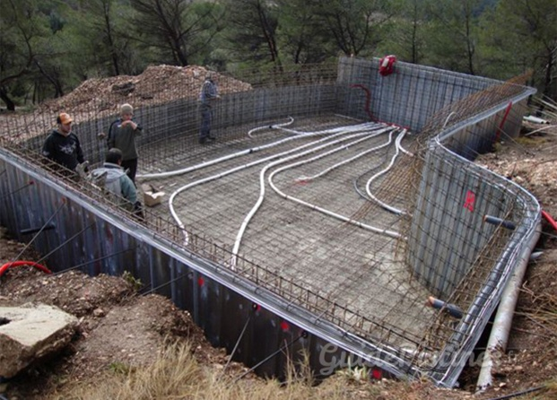 Travaux construction piscine en beton pools pinterest for Construction piscine beton