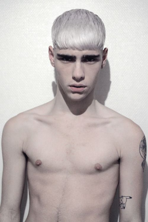 Young guys with white hair