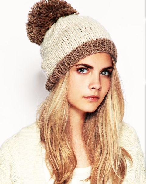 Вязание спицами модная шапка с ушками