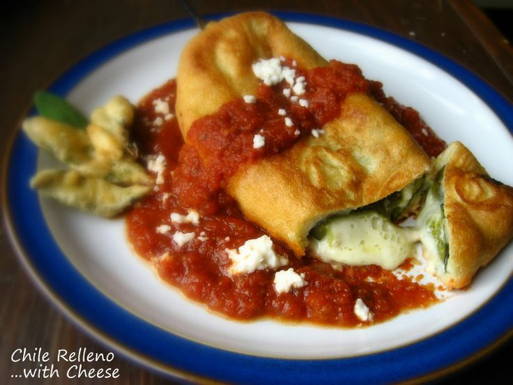 chile relleno love chile rellenos this was good but the batter didn t ...
