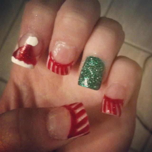Christmas acrylic nail designs nail ideas pinterest