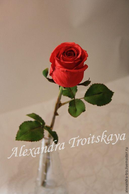 Бутонная роза из фоамирана мастер класс с пошаговым