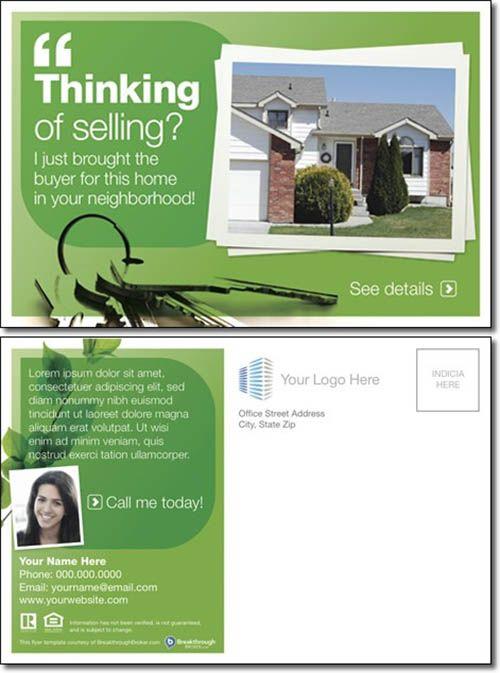 Advertisement Postcard Templates Trattorialeondoro - Real estate postcard templates