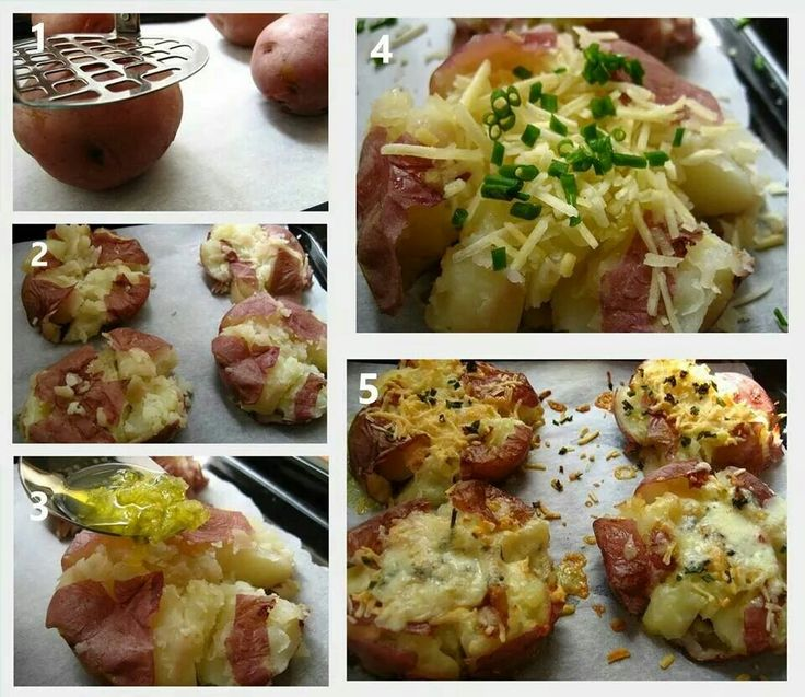 Loaded Broiled Smashed Potatoes | Yummy in my Tummy | Pinterest