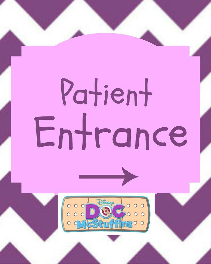 Set of 4 Doc McStuffins party signs