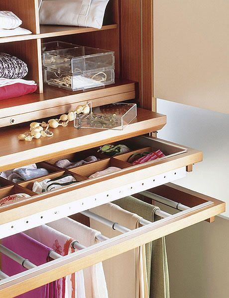 opciones armarios - organizar el armario - Reportaje - Decoracion facil - Ideas para ganar espacio, decoracion facil, reciclaje de muebles - CASADIEZ.ES
