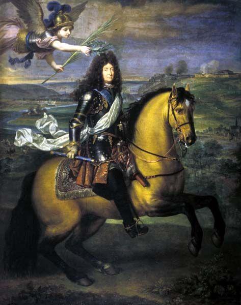 Fig.1 Pierre Mignard, LouisXIV couronné par la Victoire, XVIIe siècle, château de Versailles, MV2032