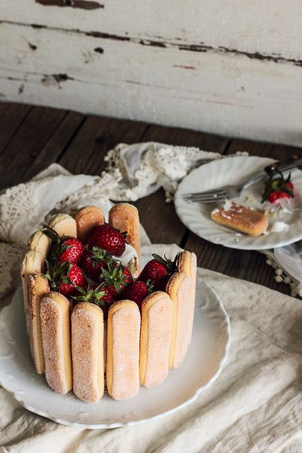 Strawberry Charlotte | Pastry Affair | OmNomNom | Pinterest