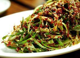 Pa Muchim - Shredded Scallion Salad -
