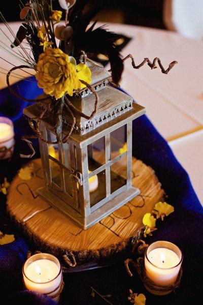 Wood slices lanterns centerpiece lantern centerpieces