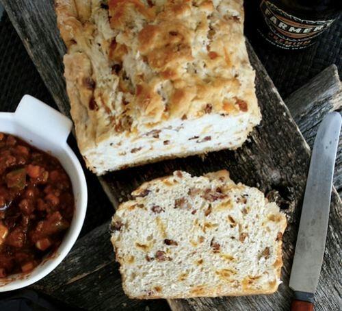 Bacon cheddar beer bread | bread | Pinterest