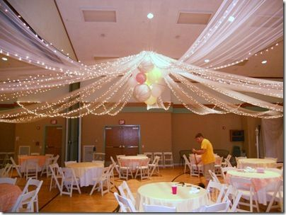 Would be gorgeous for reception in church fellowship hall.