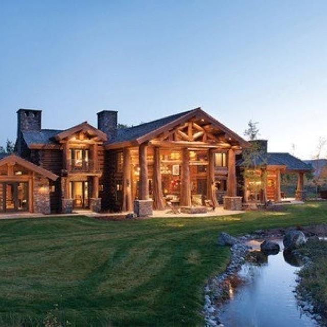 log cabin my dream house car pinterest. Black Bedroom Furniture Sets. Home Design Ideas