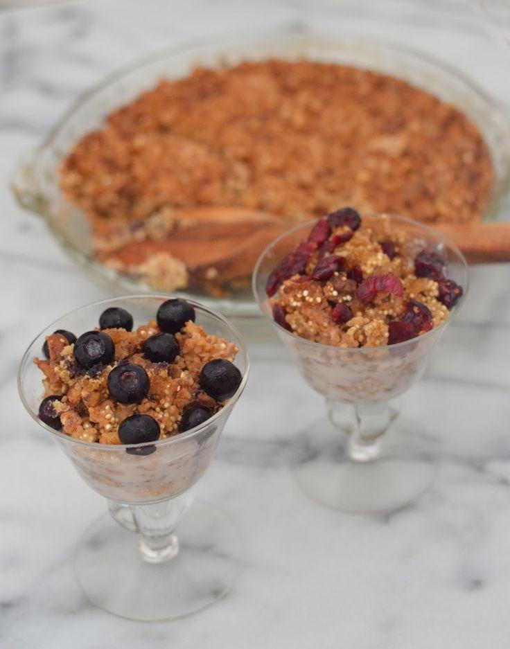 Nutty Quinoa Breakfast Bake via @lucismorsels