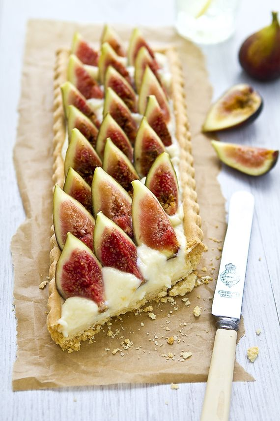 ... always has something yummy in the kitchen!   - fig tart