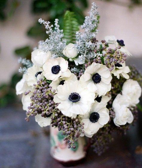 Wedding Flowers In Season In January : White anemones flowers
