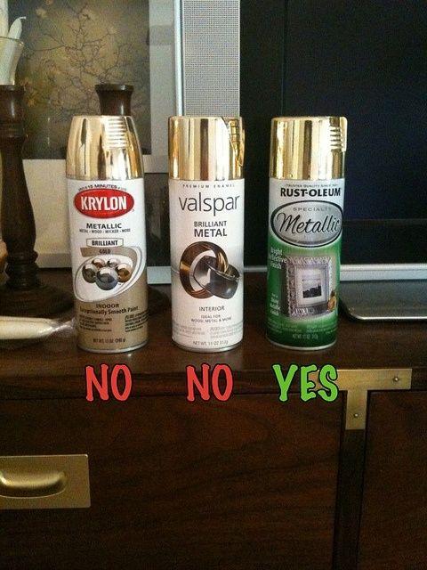 Metallic Spray Paint Diy Projects Pinterest