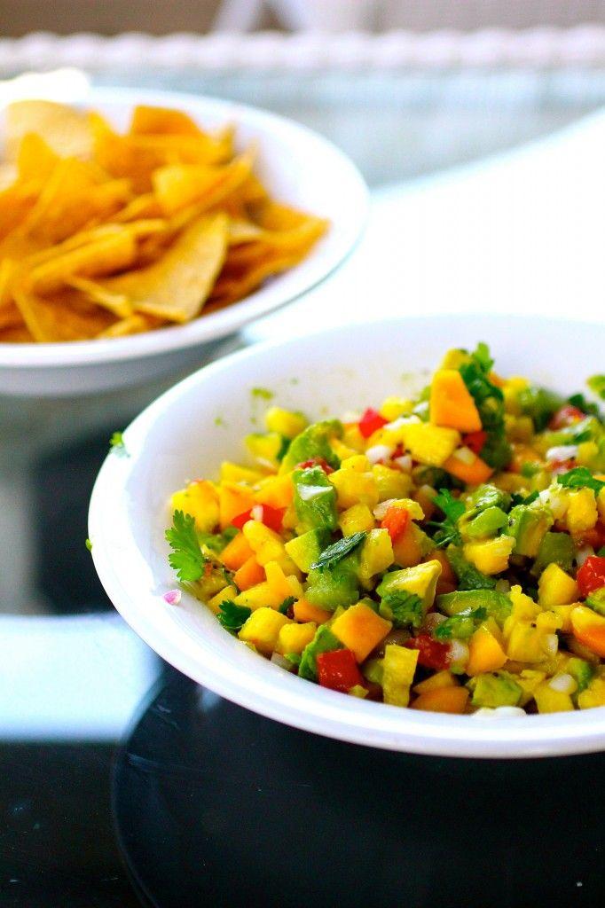 Pineapple Mango Avocado Salsa | Yummy food | Pinterest