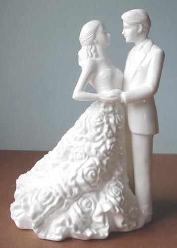 monique lhuillier waterford modern love bride groom cake topper
