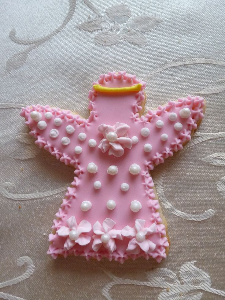 Angel hand-decorated sugar cookie
