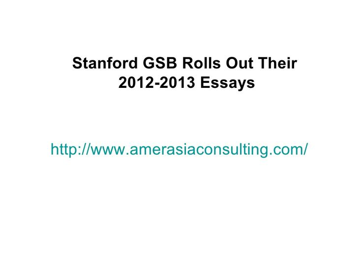 stanford mba essays 2013