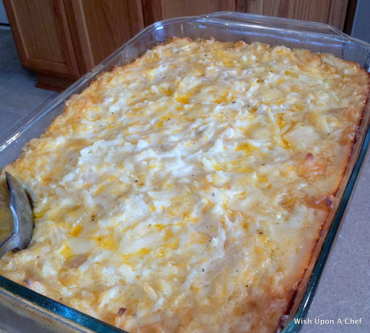 Upon A Chef: Copy Cat Recipe: Cracker Barrel's Hashbrown Casserole