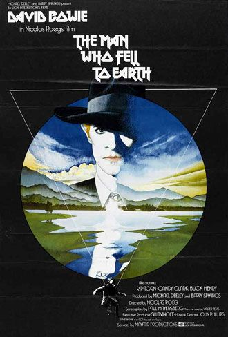 British poster from the movie the man who fell to earth the man who