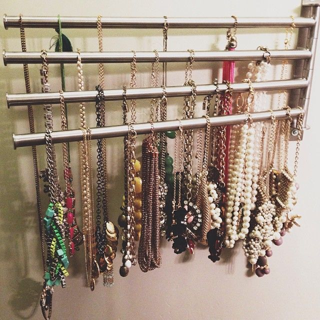 Diy Accessories Storage Cheap Easy Necklace Holder From Ikea