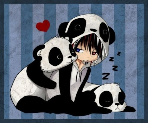 panda emo girl by - photo #4