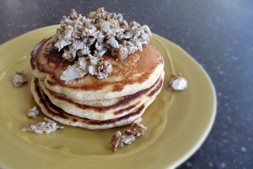 whole wheat pancakes with nutty topping | What's for Breakfast | Pint ...