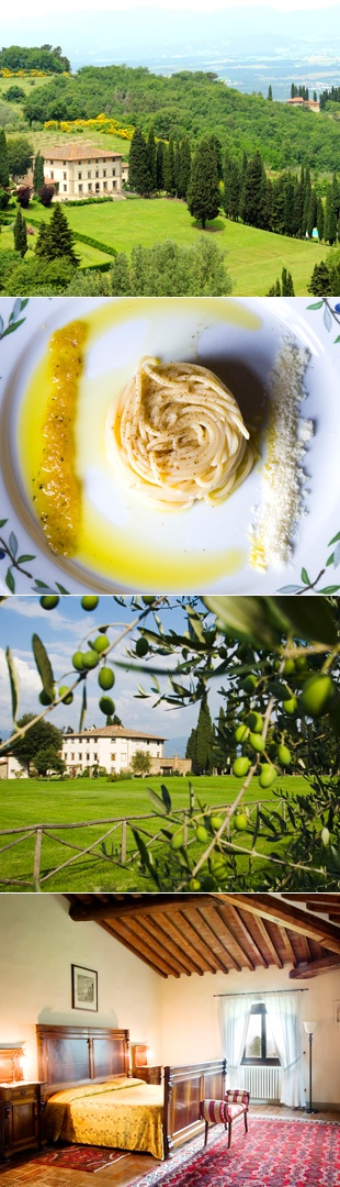 Villa Campestri | Six-night culinary adventures in Tuscany starting at $2,550 (Everywhere) | Photos: Courtesy of Villa Campestri Olive Oil Resort