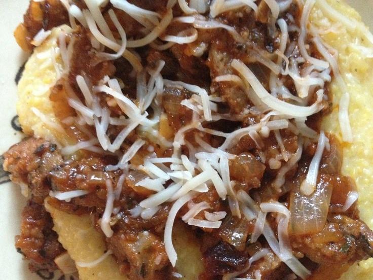 polenta polenta and sausage pie recipes dishmaps polenta and sausage ...