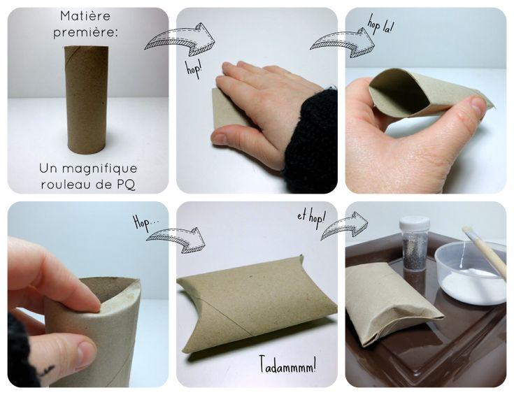 Tapes pillow box rouleaux papier toilette toilett paper rolls - Rouleau papier toilette ...