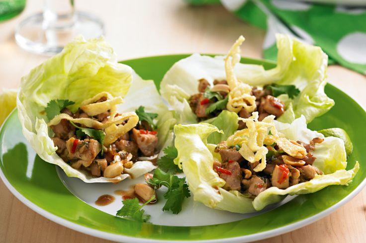 Crunchy Chicken Lettuce Cups | Dinner | Pinterest