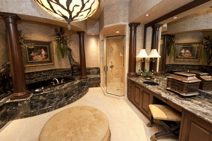 Pin by kendra stanfield on dream home pinterest for Master bathroom mansion