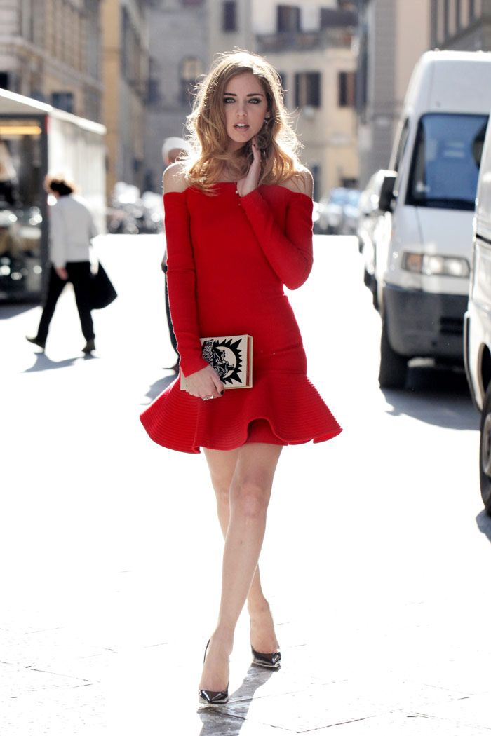 Killer red #dress I Chic street style #fashion I The Blonde Salad by Chiara Ferragni