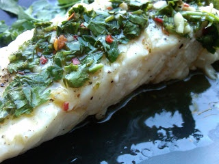 Grilled Halibut with Chimichurri Sauce | Insatiable (Recipes) | Pinte ...