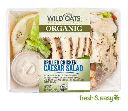 Wild Oats Organic Grilled Chicken Caesar Salad. Seasoned chicken ...